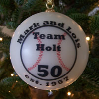 Personalized Wedding Ball Ornaments